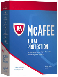 Kup McAfee Total Protection 10PC / 1Rok