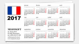 business cards calendars 2018