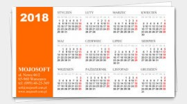 sample business cards calendars 2018