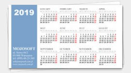 sample business cards calendars 2019