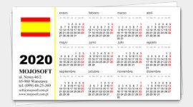 business cards calendars 2020