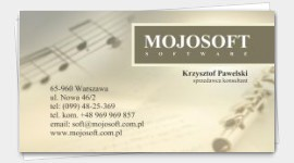 business cards Music